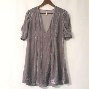 Free people lavender velvet tunic